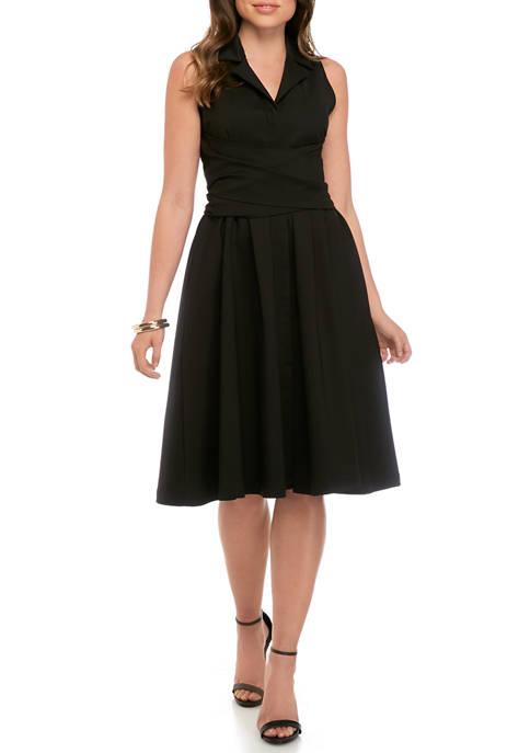 Womens Wrap Tie Dress