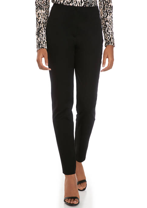 Donna Karan Womens High Rise Trouser Pants