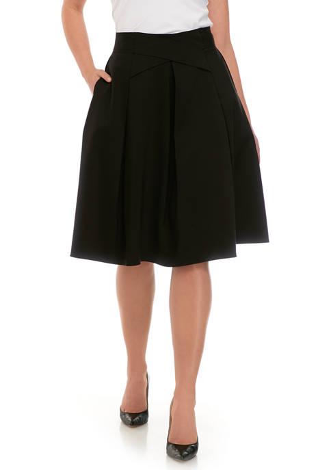 Womens Cross Waist Flare Skirt