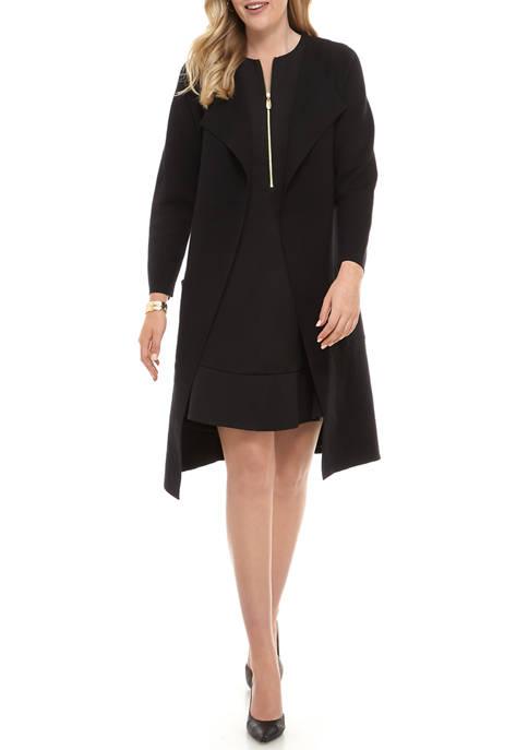 Womens Knit Topper Coat
