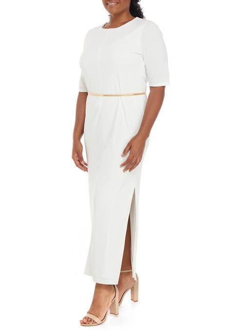 Donna Karan Womens Crew Neck Dress