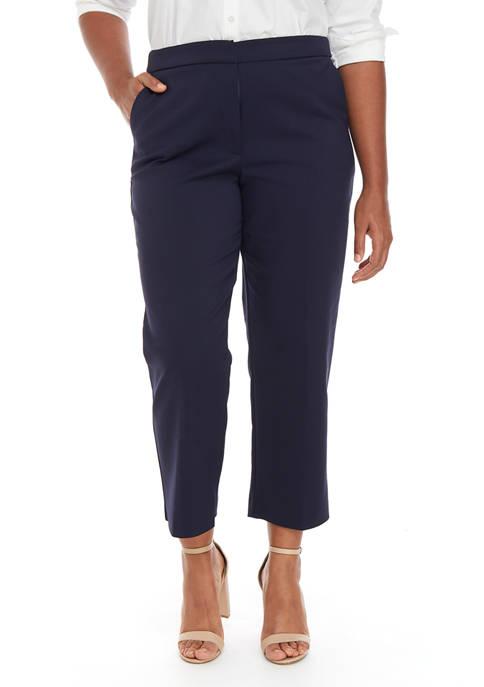 Donna Karan Womens Slim Trousers