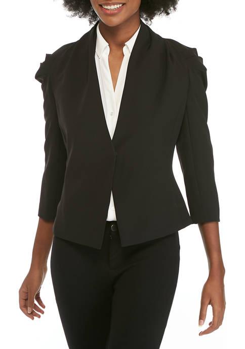 Donna Karan Womens Shawl Collar Jacket