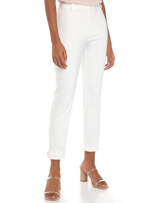 Donna Karan Womens Icon Straight Leg Pants