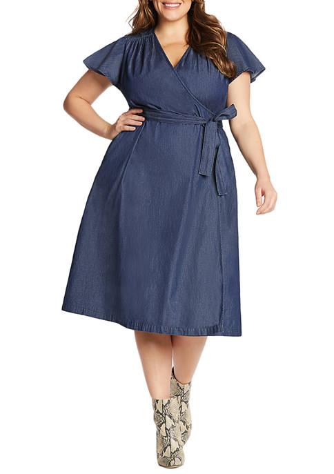 Draper James Plus Size Midi Wrap Dress