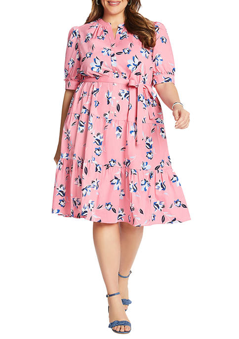 Draper James Plus Size Floral Button Front Midi