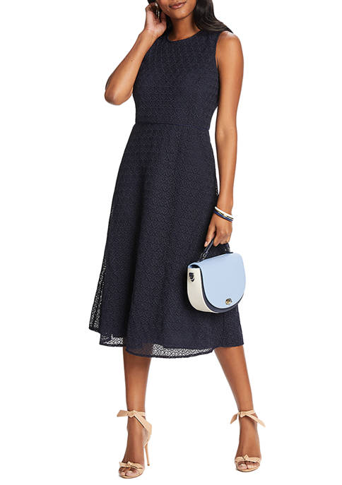 Draper James Womens Heart Lace Midi Love Circle