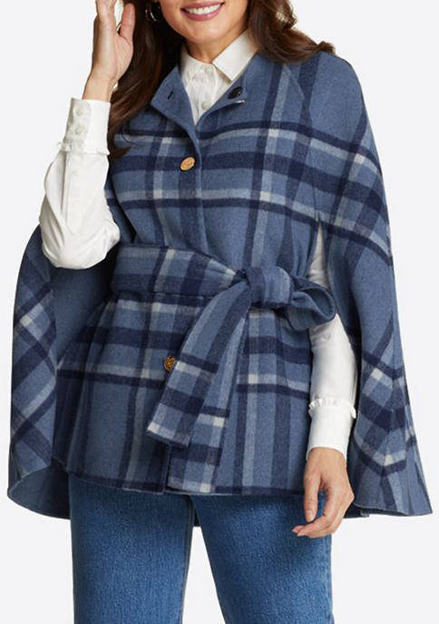 Womens Double Fleece Cape Jacket