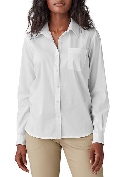 Dickies® Long Sleeve Stretch Poplin Work Shirt