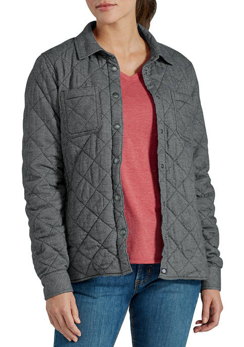 Dickies® Womens Quilted Flannel Shirt Jacket