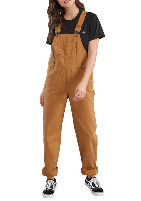 Dickies® Womens Relaxed Fit Straight Leg Bib Overalls