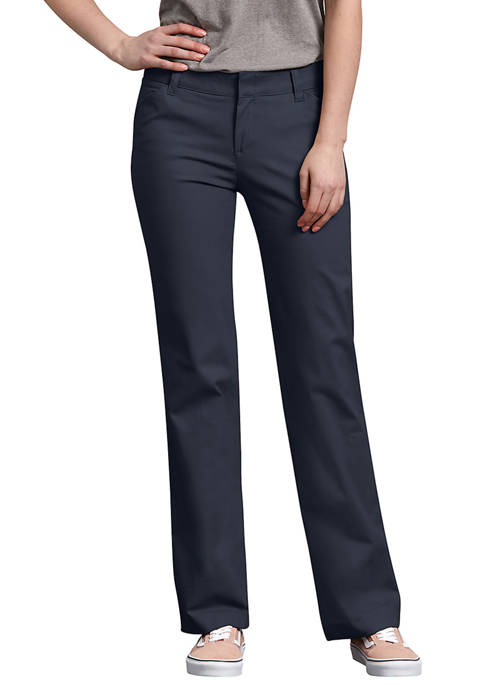 Dickies® Womens Relaxed Straight Stretch Twill Pants