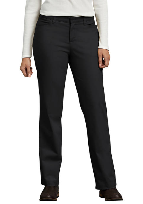 Dickies® Womens Curvy Fit Straight Leg Stretch Twill