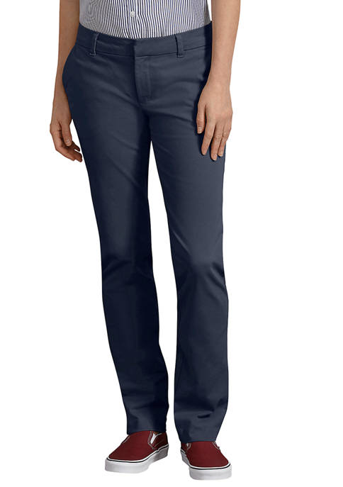 Perfect Shape Straight Twill Pants