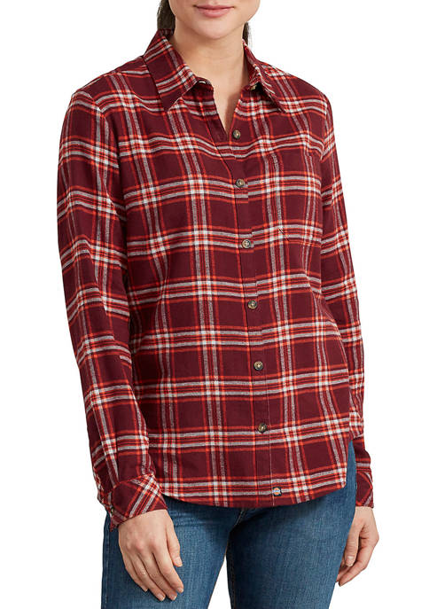 Dickies® Womens Long Sleeve Flannel Shirt