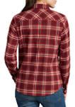 Womens Long Sleeve Flannel Shirt