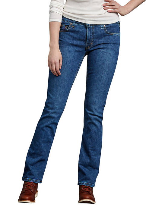 Dickies® Womens Perfect Shape Bootcut Stretch Denim Jeans
