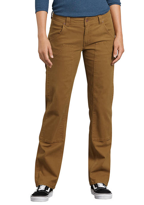 Dickies® Womens Denim Duck Washed Stretch Double-Front Carpenter