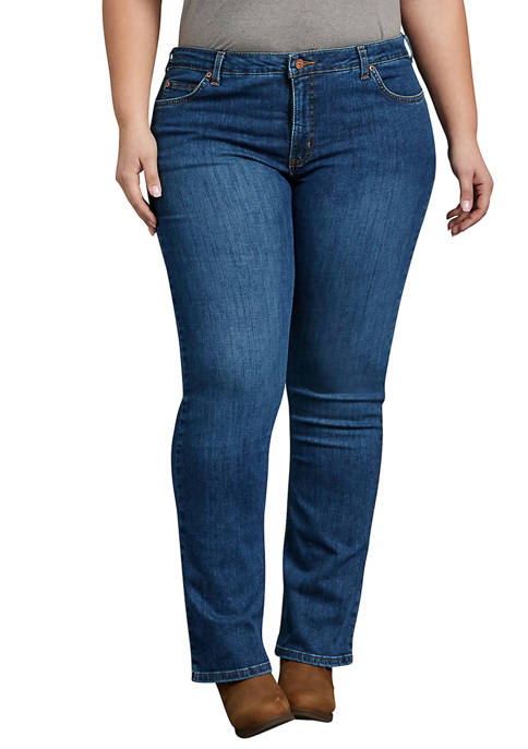 Dickies® Womens Plus Perfect Shape Bootcut Stretch Denim