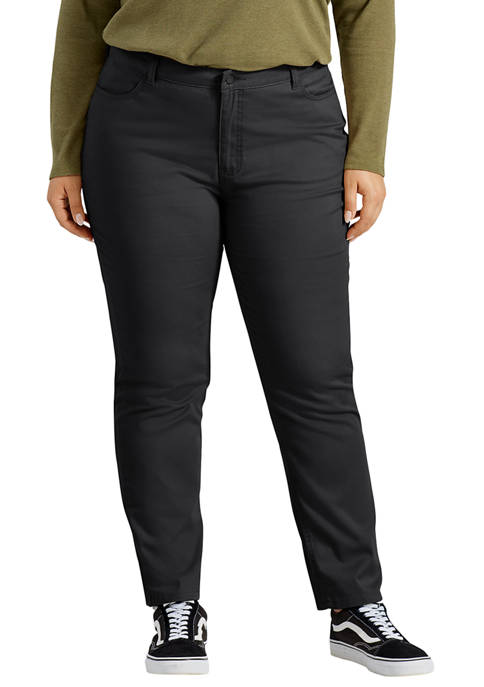 Dickies® Plus Size Perfect Shape Skinny Twill 4