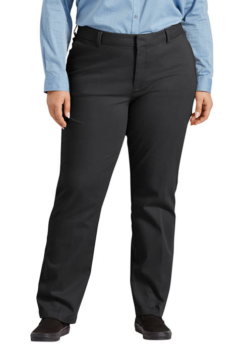 Dickies® Plus Size Perfect Shape Straight Twill Pants