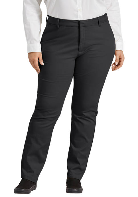 Dickies® Plus Size Perfect Shape Bootcut Twill Pants
