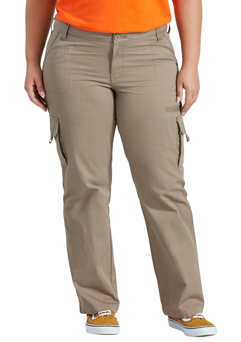 Dickies® Womens Plus Size Relaxed Cargo Pants