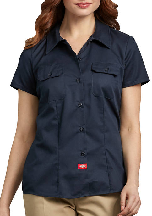 Womens Short Sleeve Work Shirt