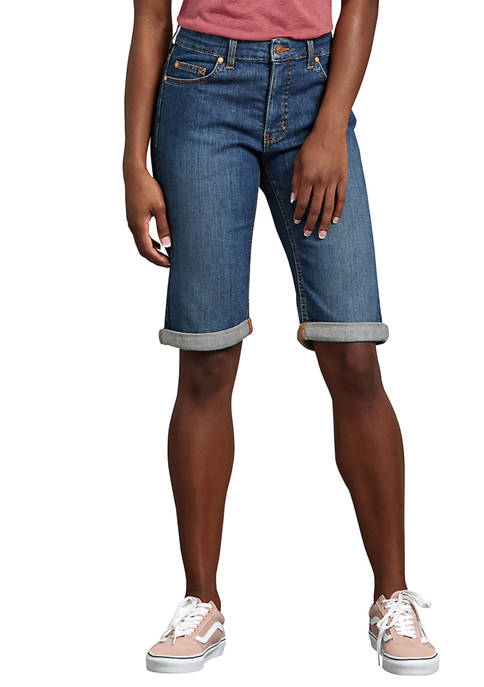 Dickies® Womens Perfect Shape Denim Bermuda Shorts