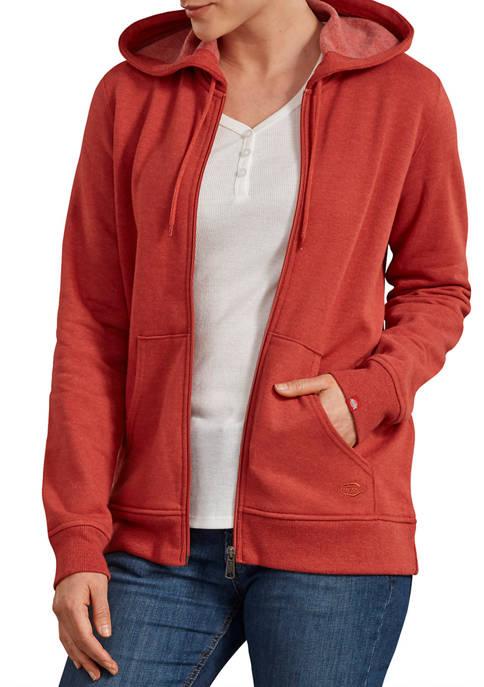 Dickies® Womens Front Zip Hoodie Sweatshirt