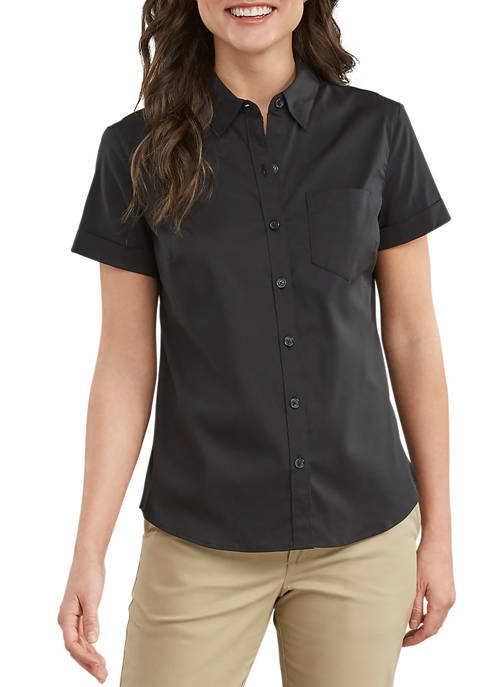 Dickies® Women's Stretch Button-Up Shirt