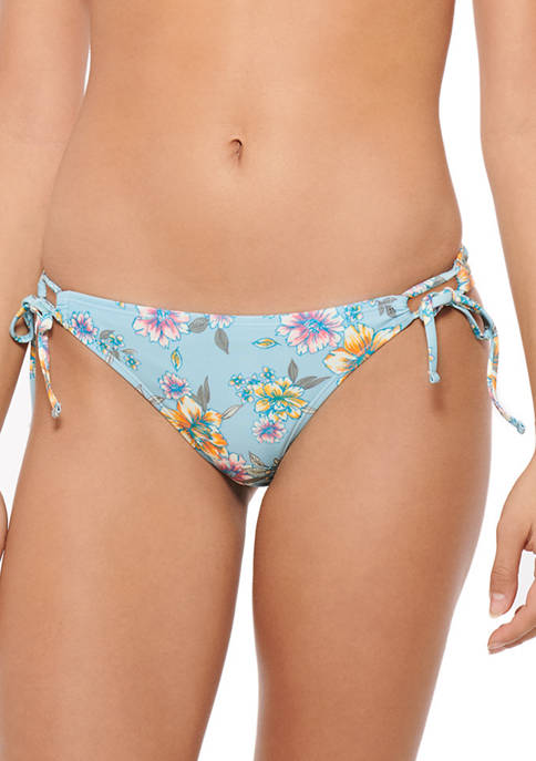 HOT WATER Side Tie Hipster Swim Bottoms