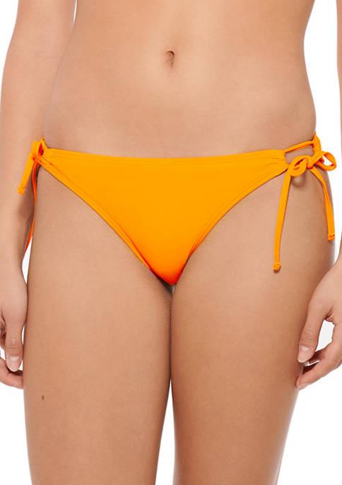 HOT WATER Side Tie Hipster Swim Bottoms