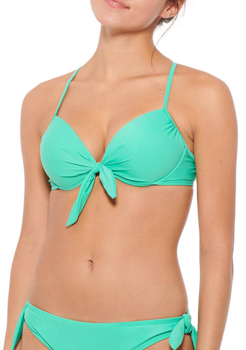HOT WATER Push Up Underwire Swim Top