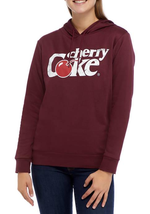 Coca-Cola Juniors Long Sleeve Fleece Cherry Cola Graphic