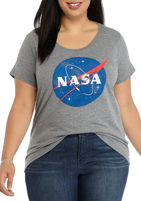 Live and Tell Plus Size Crew Neck NASA
