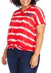 Plus Size Short Sleeve USA Tie Dye T-Shirt
