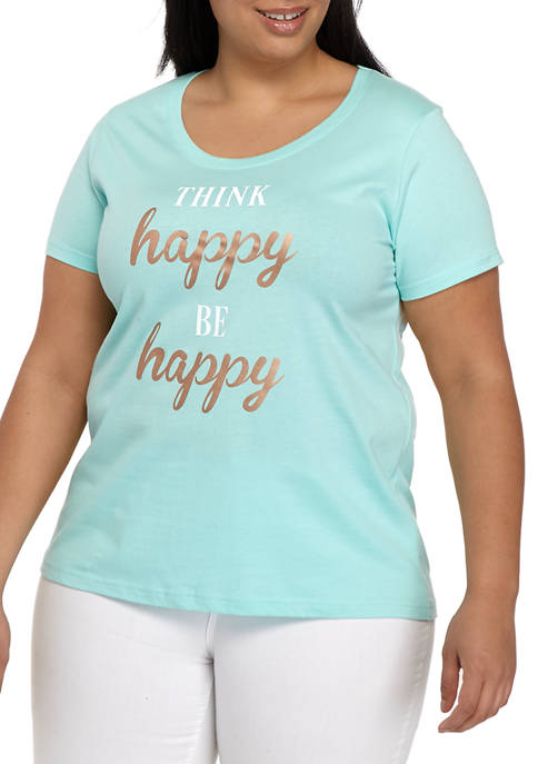 Live and Tell Plus Size Be Happy Graphic
