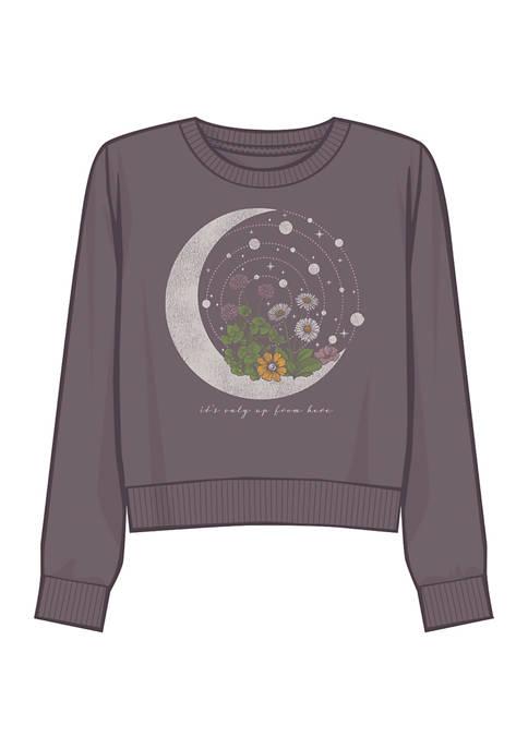 Fifth Sun™ Juniors Moon Celestial Graphic Sweatshirt