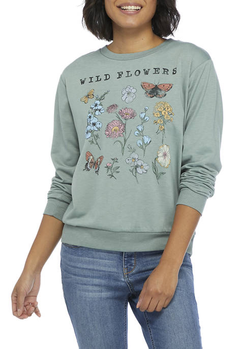 Live and Tell Juniors Long Sleeve Hacci Wild