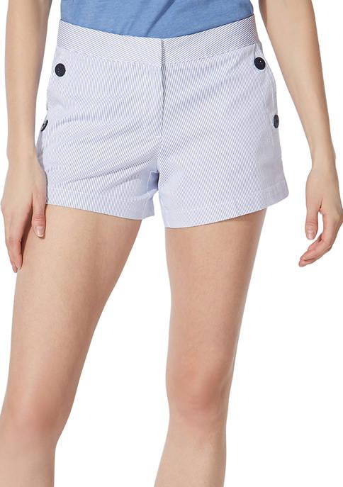 Nautica 4 Inch Stripe Stretch Twill Sailor Shorts