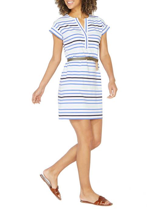 Nautica Womens Stripe Knit Dress