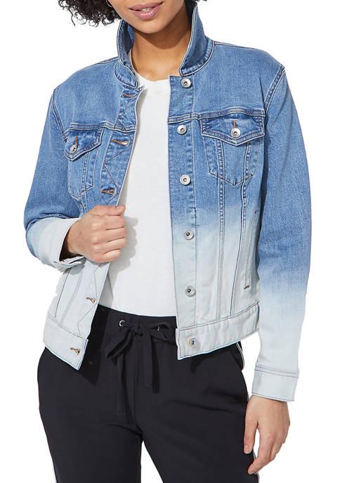 Womens Oversized Two Tone Denim Jacket