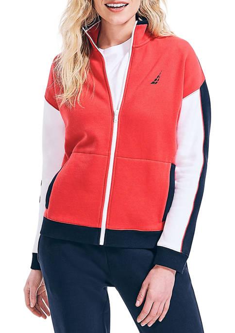 Colorblock Logo Knit Jacket