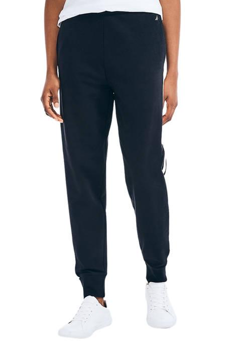 Womens Side Stripe High Waist Joggers