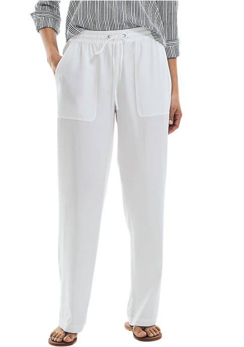 Nautica Womens Sustainably Crafted Pull On Pants