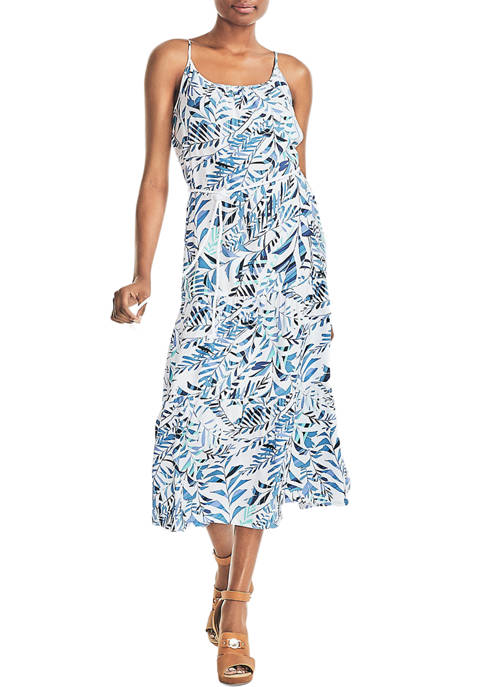 Womens Sustainably Crafted Palm Print Dress