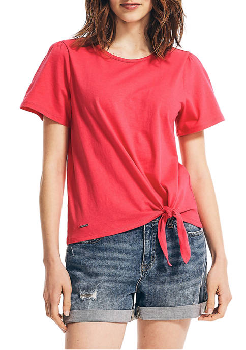 Puff Sleeve Twist-Front Top