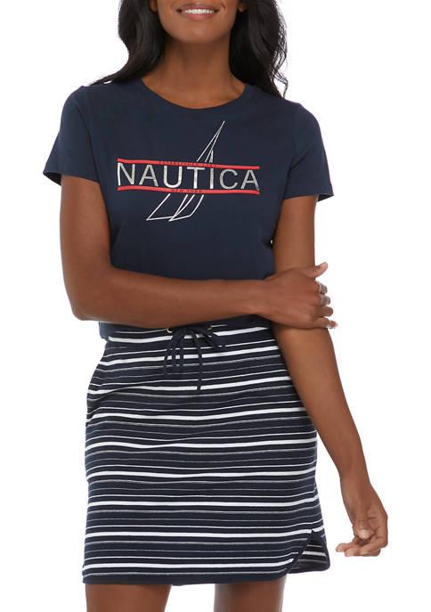 Nautica Foil Logo Graphic T-Shirt