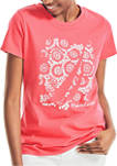 Embroidered Puff Graphic T-Shirt